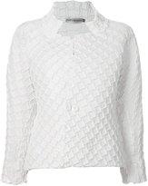 Issey Miyake geometric texture jacket - women - Cotton/Polyester/Polyurethane/Triacetate - 2