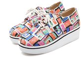 DolphinBanana DolphinGirl Women Fashion Sneaker Comfy Loafers Cute Plaid Printed Shoes SH-CY00459