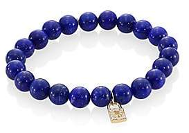 Sydney Evan Women's Blue Lapis, Diamond & 14K Gold Rondelle Lock Bracelet