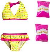 Jump N Splash Toddler Girls' Baby Heart TwoPiece Swimsuit w/ Free Floaties (2T-4T) - 8143031