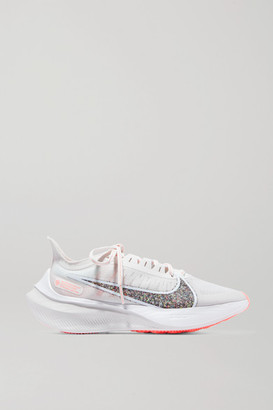 Nike Zoom Gravity Glittered Mesh Sneakers - White