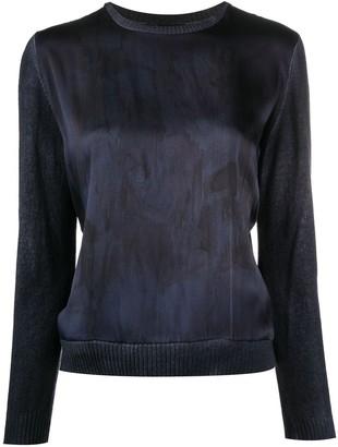 Avant Toi Panelled Silk Cashmere Jumper