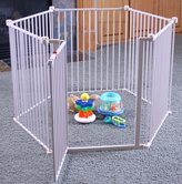 Regalo 4-in-1 Metal Walk Through Play Yard