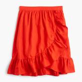 J.Crew Linen ruffle skirt
