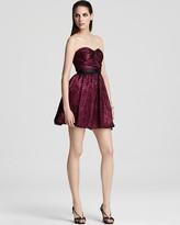 Aqua Strapless Dress - Lace