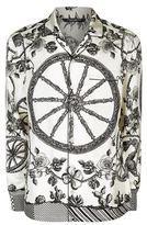 Dolce & Gabbana Wheel Print Pyjama Shirt