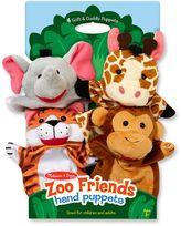 Melissa & Doug Zoo Friends Hand Puppets (Set of 4)