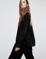 Religion Luxury Suedette Sweatshirt