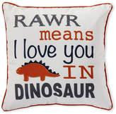 Thro Rawr Dinosaur Decorative Pillow
