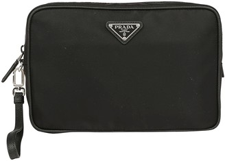 Prada Beauty Logo Plaque Toiletry Bag