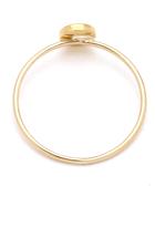 Jennifer Meyer Jewelry 18k Gold Circle Diamond Ring