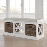 Beachcrest Home Sroda Solid Wood Cubby Storage Bench