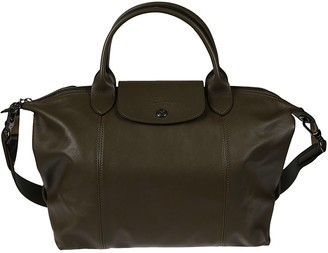 Longchamp Detachable Strap Top Zip Tote