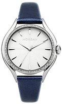 Morgan m1235u – Ladies Watch – Analogue Quartz – Silver Dial – Blue Leather Bracelet