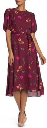Donna Morgan Elbow Sleeve Midi Dress