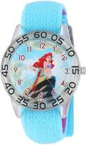 Disney Girl's 'Ariel' Quartz Plastic and Nylon Automatic Watch, Color: (Model: W002909)