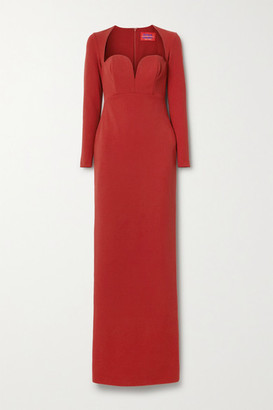 SOLACE London Marlie Stretch-cady Maxi Dress - Red