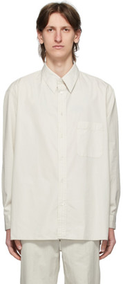 Lemaire Grey Straight Collar Shirt