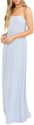 Show Me Your Mumu Lauren Tie Back Chiffon A-Line Gown