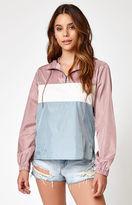 La Hearts Colorblock Half Zip Windbreaker Jacket