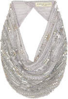 Mignonne Gavigan Perry Le Charlot Beaded Scarf Necklace, Silver