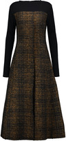 Marni Wool-blend bouclé-tweed midi dress