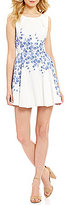 Teeze Me Floral Border Print A-line Dress