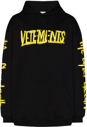 Vetements World Tour print hoodie