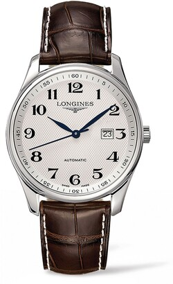 Longines Master Automatic Alligator Leather Strap Watch, 42mm