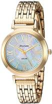 Pulsar Women's Quartz Stainless Steel Casual Watch, Color:Gold-Toned (Model: PY5030)