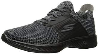 Skechers Women's Go Walk 4-Sustain Trainers, (Black/Grey), 40 EU