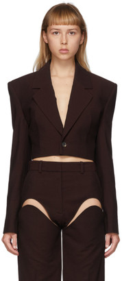 Y/Project Burgundy Cropped Blazer