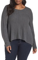Eileen Fisher Plus Size Women's Seam Front Merino Sweater