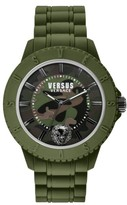 Versus By Versace 'Tokyo' Rubber Strap Watch, 42Mm