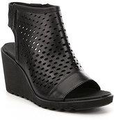 Ecco Freja Hooded Perforated Wedge Sandals