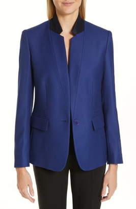 Stella McCartney Contrast Collar Wool Blazer