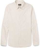 A.p.c. - Striped Cotton-poplin Shirt