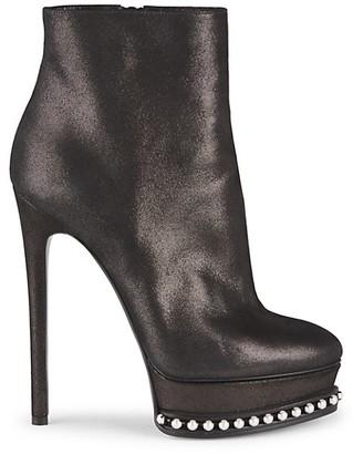 Casadei Embellished Platform Stilleto Ankle Boots