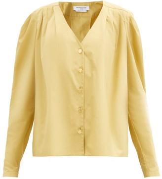 Françoise Francoise - Puffed-shoulder Cotton-poplin Shirt - Beige