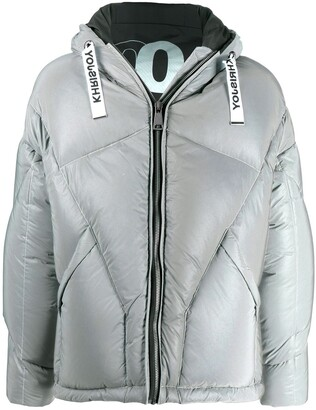 KHRISJOY Drawstring Hooded Down Jacket