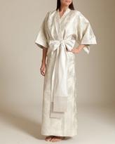 Daniel Hanson Silk Silk Filigree Jacquard Long Kimono