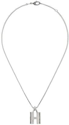 Gucci letter H pendant necklace
