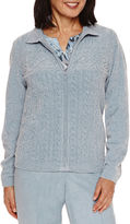 Alfred Dunner Long Sleeve Cardigan-Petites