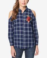 Buffalo David Bitton Embroidered Cold-Shoulder Shirt