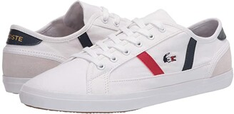 Lacoste Sideline Tri 2 (White/Navy/Red) Women's Shoes