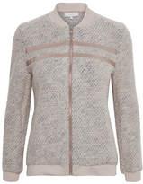Cream Valeria Zip-Front Jacket