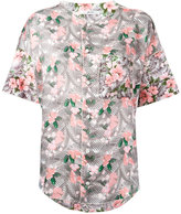 Julien David floral print shirt - women - Silk/Cotton - S
