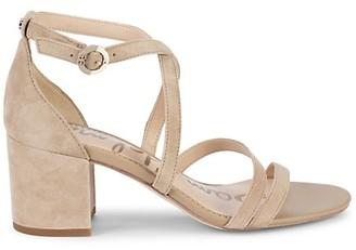 Sam Edelman Stacie Block-Heel Suede Strappy Sandals