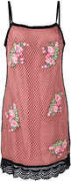House of Holland embroidered mesh dress - women - Cotton/Polyester - 6