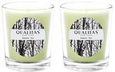 Qualitas Candles Green Tea Beeswax Candles (Set of 2) (6.5 OZ)